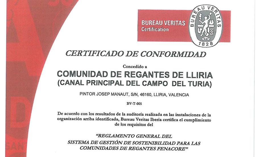 Certificado Bureau Veritas