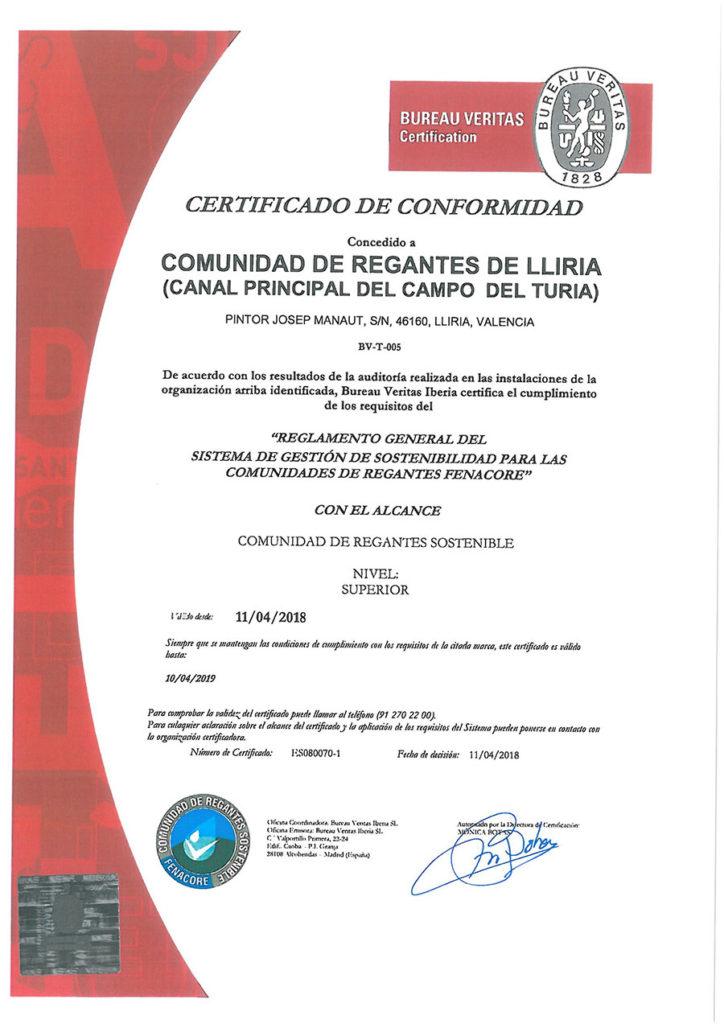 Certificado Bureao Veritas